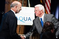 Democratic candidate for Pennsylvania governor Tom Wolf and current Gov. Tom Corbett.