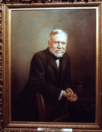 CarnegiebyWestfall Portrait of Andrew Carnegie restored by Carroll Westfall.