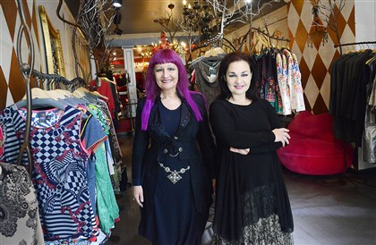 20140611lfFashionMagazine01 Marta Putas, left, and Michele Lyons, owners of Maxalto boutique in Shadyside.