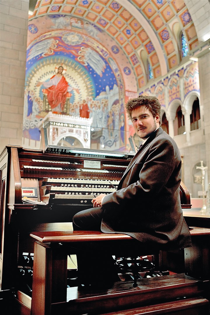 Luke Mayernik taken at St. Joseph Cathedral Luke Mayernik in St. Joseph Cathedral in Wheeling, W.Va., while he was organist there.