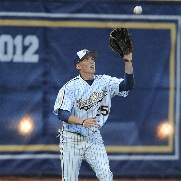 20140605hoKentZSpts (2).jpg Finally healthy from knee injuries, North Allegheny grad Jon Wilson showed what he could do in the outfield at Kent State, helping the Golden Flashes into the NCAA tournament.