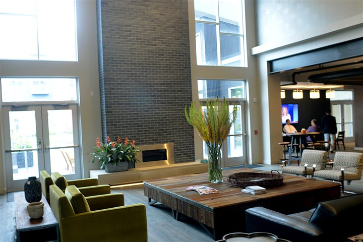 The fully furnished lobby and common room  The fully furnished lobby and common room with complimentary cookies, coffee and Wi-Fi