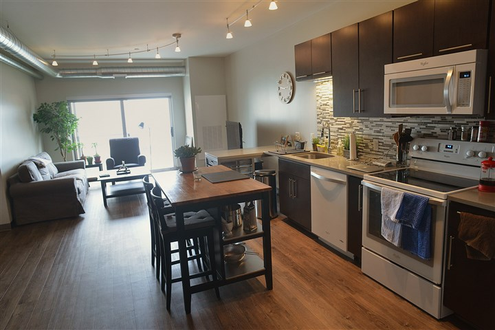 The studio apartment at Bakery Living A studio apartment at Bakery Living in Shadyside.
