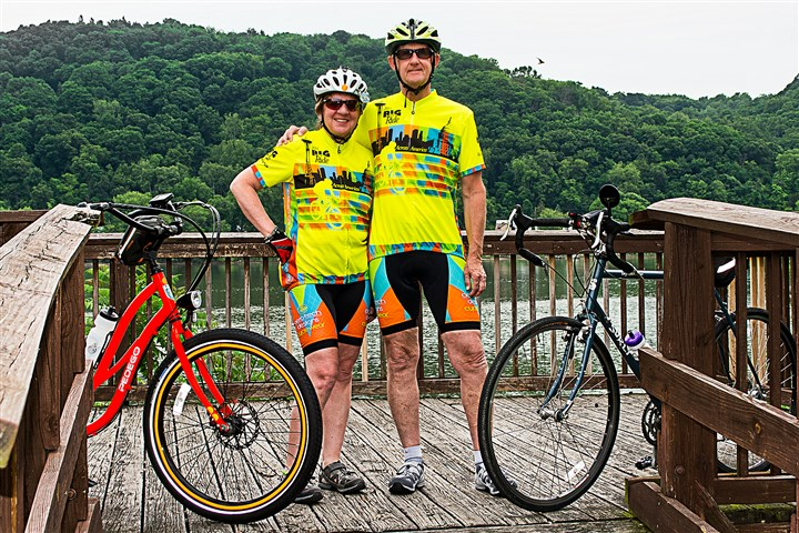 Paul and Cathy Rogers 2014 Paul and Cathy Rogers of Moon are biking across the country to bring attention to the poor air quality in Allegheny County.