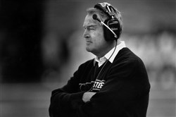 Former Steelers coach Chuck Noll looks on during a game.