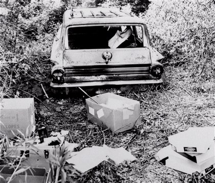 CIVIL RIGHTS CASES The burned-out car belonging to civil rights workers Michael Schwerner, Andrew Goodman and James Chaney was found on June 23, 1964, in Philadelphia, Mississippi, after they went missing two days earlier. Their bodies were discovered on Aug. 4, 1964.