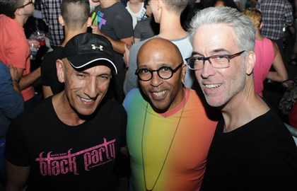 201406014DARprideSeen12-12 Richard Parsakian, Tomé Cousin and C.T. Steele.