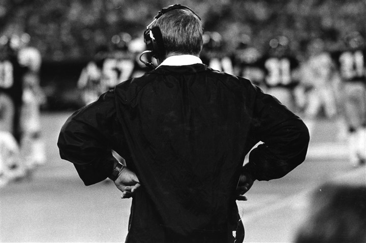 nollsideline0615 Chuck Noll on the sidelines, from which he turned the Steelers organization into a winner.