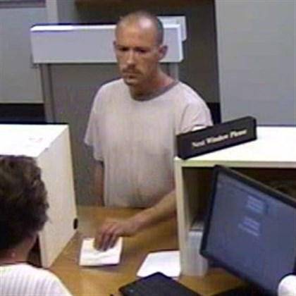 North Huntingdon bank robbery suspect Police have identified this man as a suspect in a robbery Saturday at the Circleville branch of First National Bank in North Huntingdon.