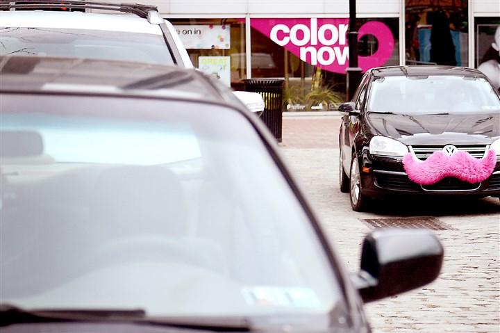uber Rob Siravo, 25, of the South Side, drives his Lyft car around Market Square on Feb. 25.