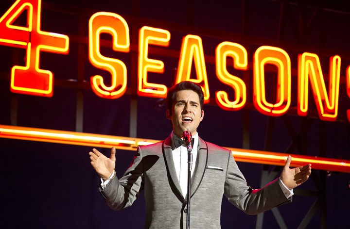 "20140620JerseyBoys2-1 John Lloyd Young reprises his Tony Award-winning Broadway role as Frankie Valli in the movie version of ""Jersey Boys."""