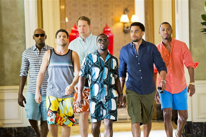 "20140620Think3-1 Romany Malco, Jerry Ferrara, Gary Owen, Kevin Hart, Michael Ealy and Terrence Jenkins in ""Think Like a Man Too."""