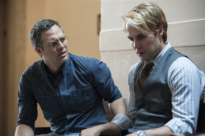 "Kitsch Mark Ruffalo, left, and Taylor Kitsch in HBO's ""The Normal Heart,"" based on Larry Kramers play."