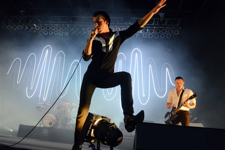 Arctic Monkeys1 06172014 Lead singer Alex Turner of the Arctic Monkeys performs at Stage AE on the North Shore Tuesday.