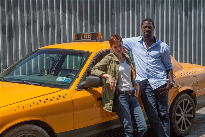"tyrantTaxi From left, Chyler Leigh as Detective Cat Sullivan and Jacky Ido as Leo Romba in NBC's ""Taxi Brooklyn."""