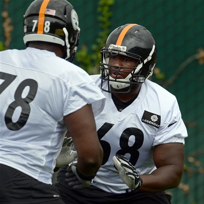 Beachum Whimper Steelers Steelers offensive lineman Kelvin Beachum, right, and offensive tackle Guy Whimper take part in a minicamp on the South Side.