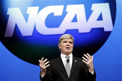 MarkEmmert2-1 NCAA President Mark Emmert. The NCAA is suing Mr. Corbett, state Treasurer Rob McCord and two other state officials.