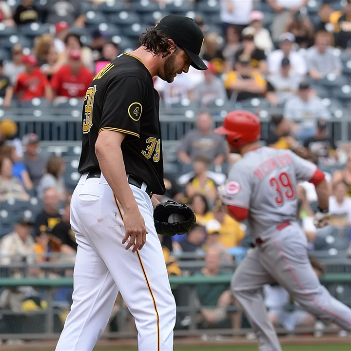 Pirates pitcher Jason Grilli  Pirates pitcher Jason Grilli entered Thursday's game with a 3-2 lead in the ninth inning but allowed a one-out homer to Devin Mesoraco that tied the game. Manager Clint Hurdle today removed him from the closer role.