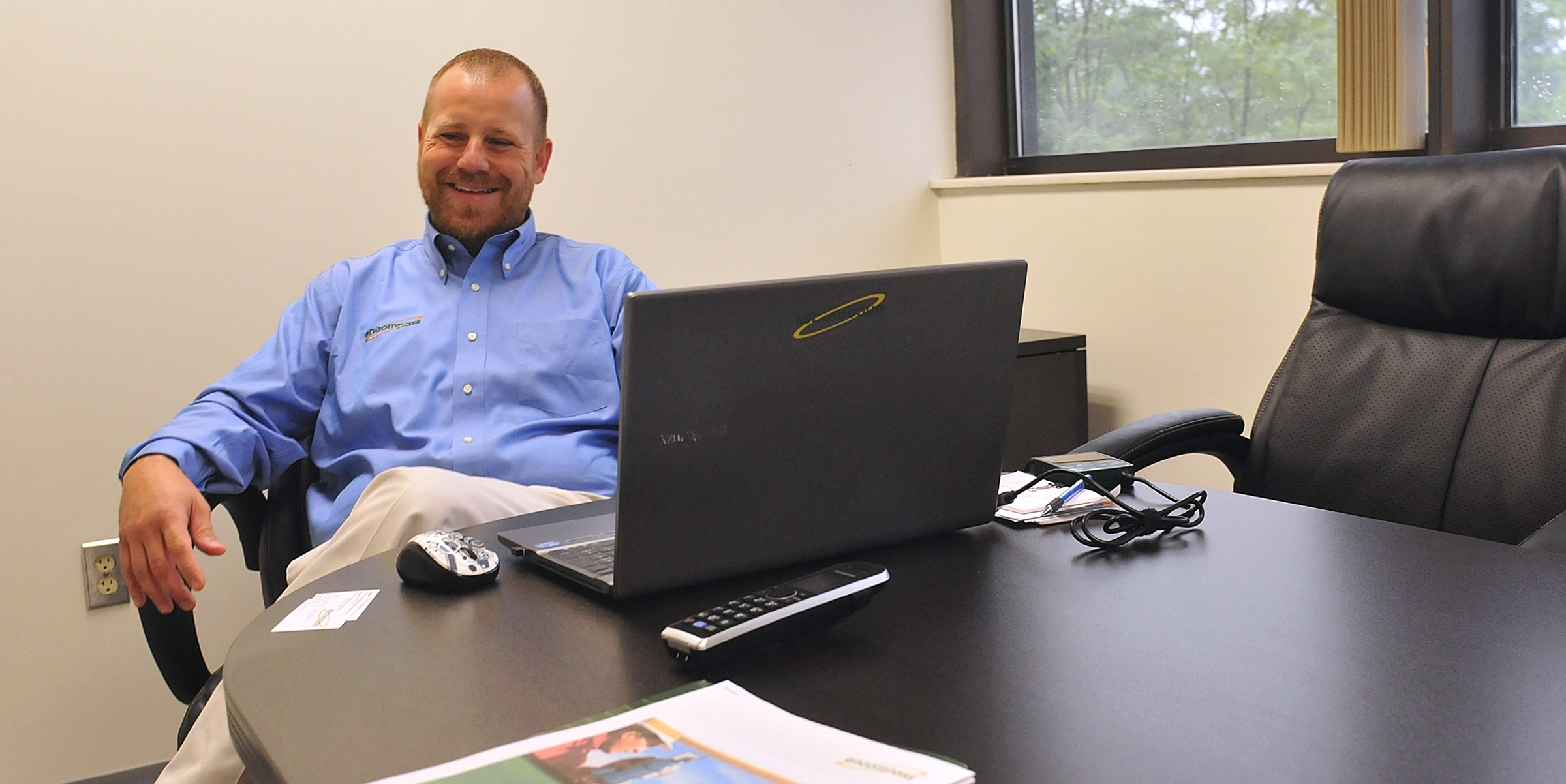 20140619lrencompassps03-2 B. J. Whitman of Encompass at the company's office in Bridgeville