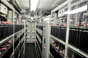 A portion of the 600-battery array known as the PowerCube belongs to Axion Power International.