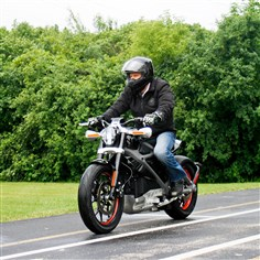 Harley-Electric Motorcycle Harley's new electric motorcycle was unveiled Thursday.