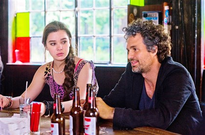 "BeginAgain2-1 Hailee Steinfeld and Mark Ruffalo star in ""Begin Again."""
