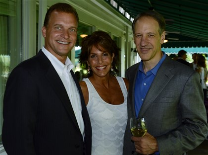 20140619bwMassaroSeen06 Greg and Jannie Saxon with Domenic Dozzi.