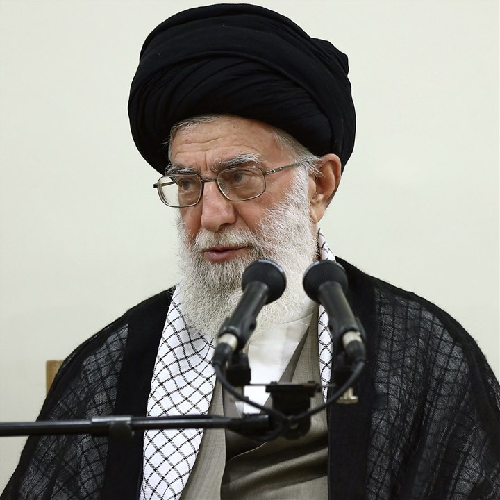 Mideast Iran 6-23 Iran's top leader Ayatollah Ali Khamenei said Sunday he is against US intervention in neighboring Iraq, where Islamic extremists and Sunni militants opposed to Tehran have seized a number of towns and cities, the official IRNA news agency reported.