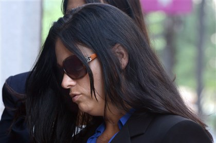 Former Millvale officer Nicole Murphy Nicole Murphy, a former Millvale police officer, enters the Federal Courthouse in Pittsburgh on Monday. Murphy is charged with civil rights violations for using a Taser on a handcuffed man.