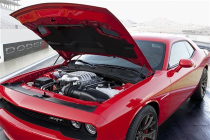 2015 Dodge Challenger SRT Supercharged The new 600-horsepower plus Hellcat engine is the first engine produced by the newly combined Dodge and SRT brands.