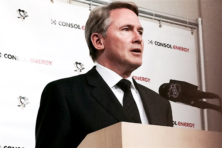 Penguins coach Mike Johnston Mike Johnston was hired as Penguins head coach in June.