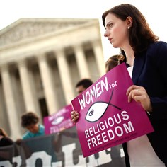abortionMassR Pro-life activists gather Thursday outside the U.S. Supreme Court in Washington, D.C. The court overturned a Massachusetts law barring protests within 35 feet of abortion clinics.
