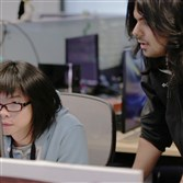 Eric Zhang, left, and Arjun Harisena, both Carnegie Mellon graduates, are part of the Pixelopus team.