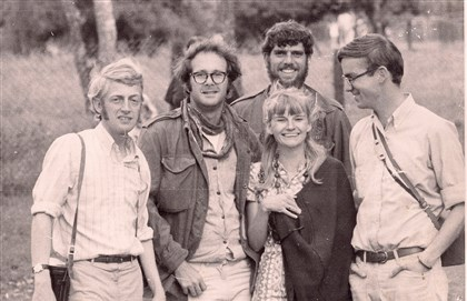 Peter Leo, at left, in 1969 with Peace Corps colleagues Peter Leo, at left, in 1969 with Peace Corps colleagues (clockwise), Peter, Steve, Richard and Judy.