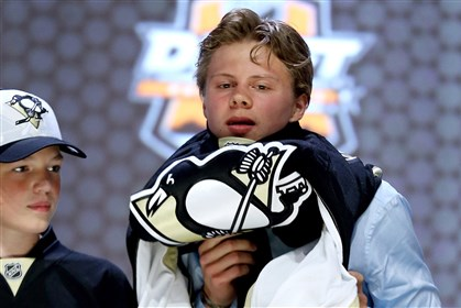 Kapanen-1 Kasperi Kapanen is selected 22nd overall by the Pittsburgh Penguins in the first round of the 2014 NHL Draft on June 27.