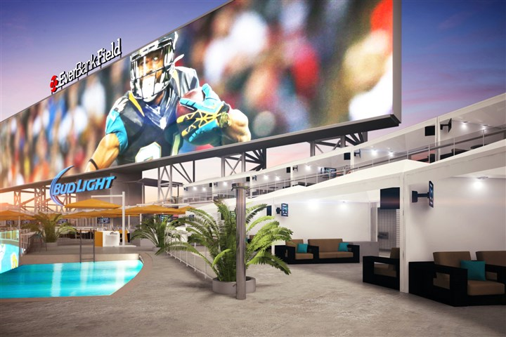 2Jacksonvillepremiumseating The Jacksonville Jaguars plan to install two pools at EverBank Field this summer, part of a $63 million renovation project at the stadium. These renderings show the team's plans for the pools and more than one dozen party cabanas.