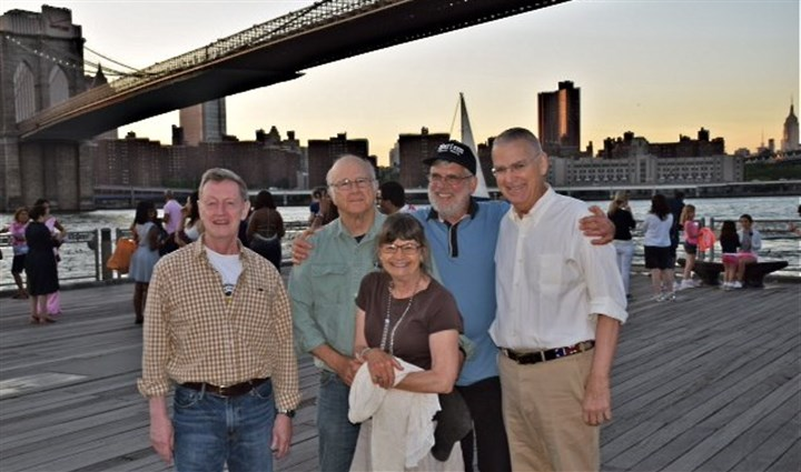 Peter Leo, at left, with his Peace Corps colleagues Peter Leo, at left, with his Peace Corps colleagues in a June 21 photo in Brooklyn.