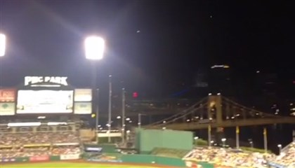 PNC Drone_June 2014 An unmanned drone hovered over PNC Park during a game between the Pirates and the New York Mets