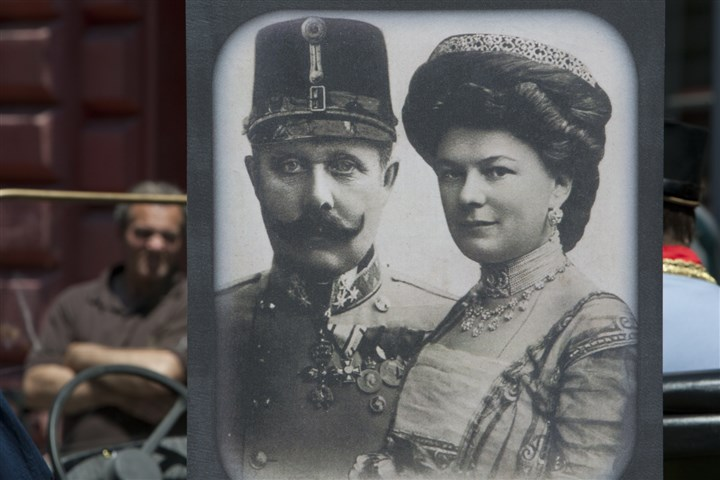 Archduke Franz Ferdinand and Sofia von Hochenberg Exhibits in a Sarajevo museum, including portraits of Archduke Franz Ferdinand and Sofia von Hochenberg. Saturday marked a century since the assassination of the heir to the Austro-Hungarian throne, Archduke Franz Ferdinand and his wife Sofia von Hochenberg by Serb nationalist Gavrilo Princip. The assassination was the event that ignited the start of World War I.