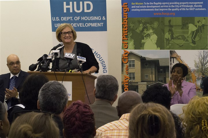 HUD Choice Neighborhood grant to rebuild Larimer Carol Galante, commissioner of the Federal Housing Administration, announces a $30 million Choice Neighborhood grant that will be applied to more than 300 units of mixed-income housing and mixed-use development in Larimer.