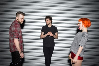 20140701hdParamore Paramore: Jeremy Davis, Taylor York and Hayley Williams.