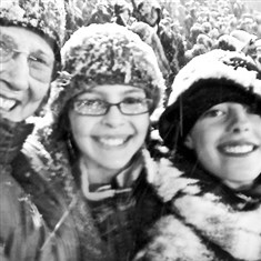 Soccer fans Hazel Cope and two of her grandchildren Soccer fans Hazel Cope and two of her grandchildren, Chloe and Owen Cope, at the U.S. vs Costa Rica game, played in a Denver blizzard on March 23, 2013. It was a World Cup qualifying game.