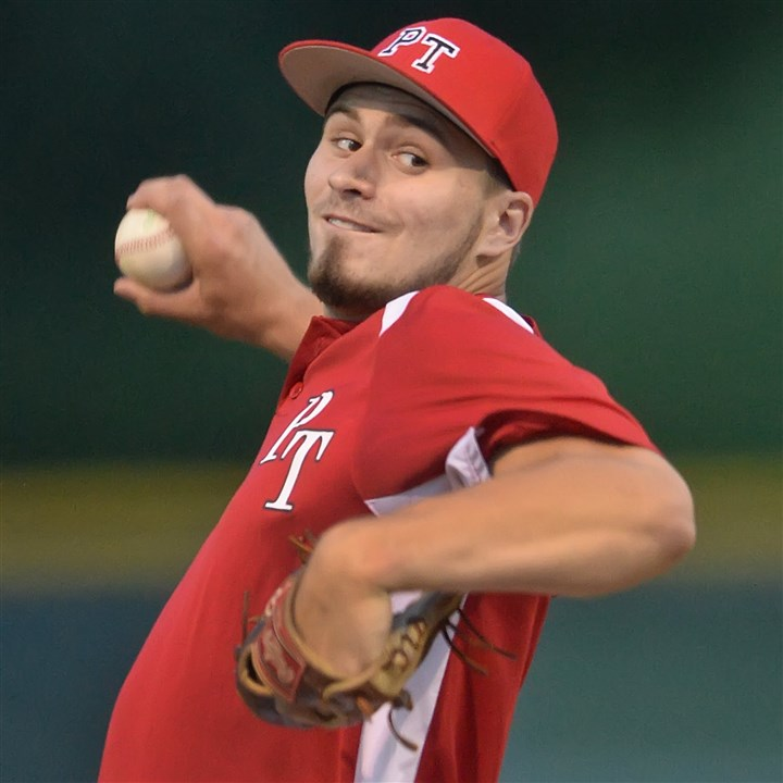 20140624pdLegionSports02.1.jpg Seton-LaSalle grad David Boehme has emerged as the ace of the pitching staff for the Peters Township American Legion team.