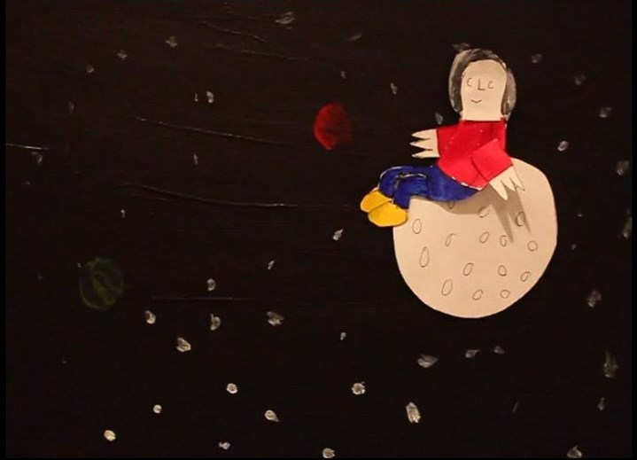 baldy Baldy in Space by Ricky Bardy, from the 2014 2-Minute Film Festival at Carnegie Museum of Art.