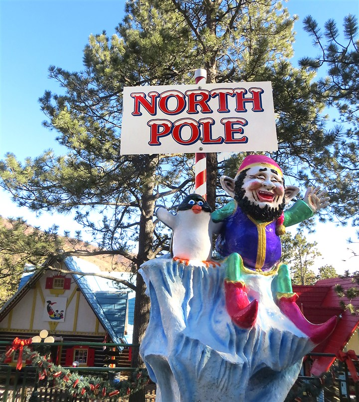 The never-melting North Pole pole The never-melting North Pole pole at Visitors to North Pole: Home of Santa's Workshop.