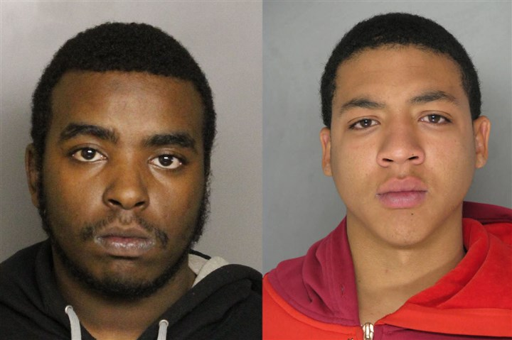 Coraopolis mugs Rasheim Wallace, left, and Bradley Kemp, right, are wanted in connection with a Coraopolis killing in November.