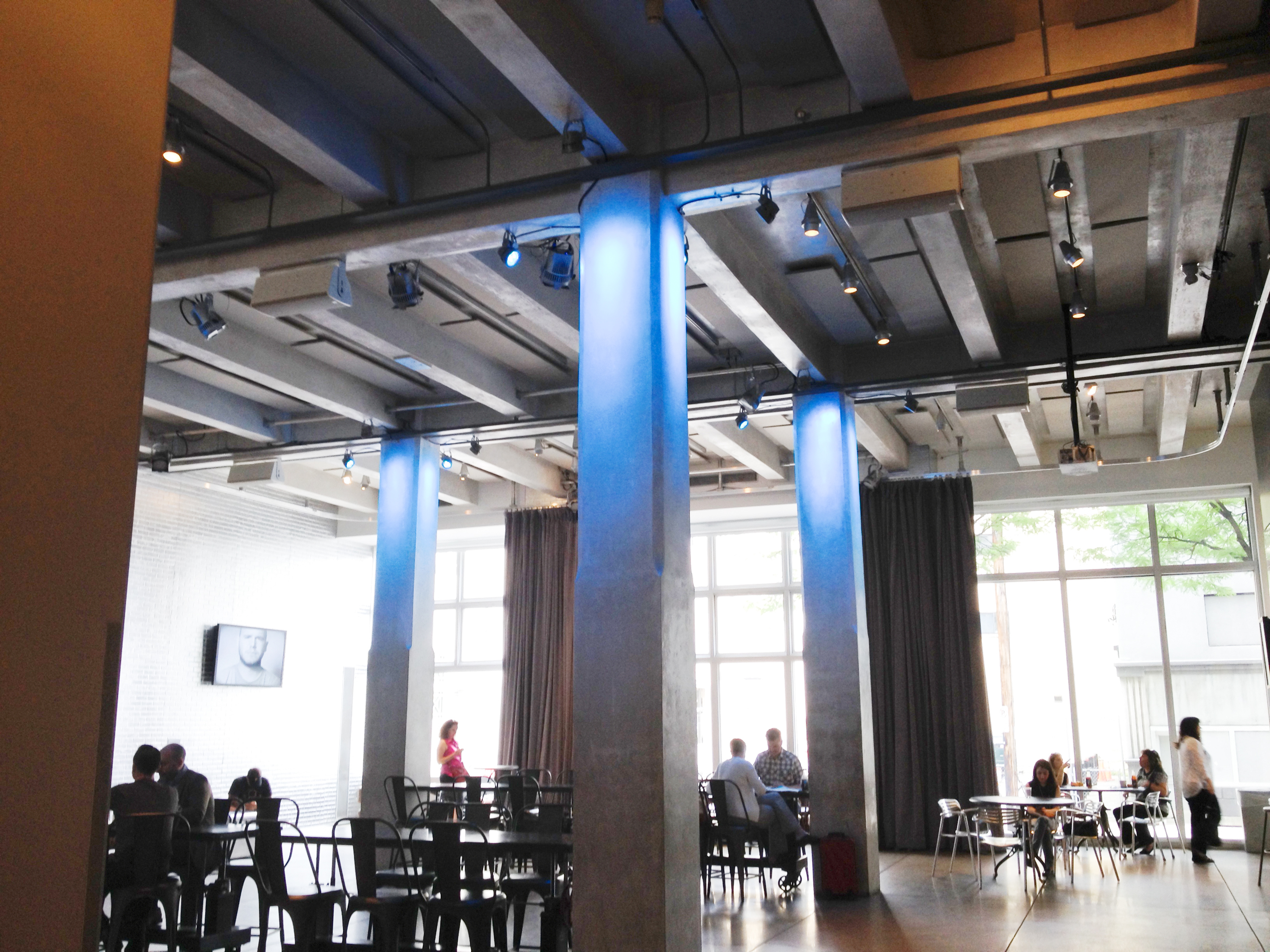 WarholGreenWorkplace1 The first floor of the Andy Warhol Museum in the North Side was re-lamped with 150 energy efficient 18-watt LED bulbs, replacing 90-watt halogen bulbs.