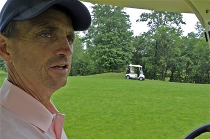 Eric Knapp at Pheasant Ridge Golf Club Eric Knapp at Pheasant Ridge Golf Club in June 2008 -- 15 months before his death in 2009 at age 49.