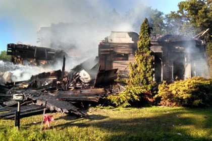 Armstrong County fire1 A woman was killed in a fire early this morning in Armstrong County.