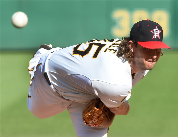 20140704pdPiratesSports04 Pittsburgh Pirates starter Gerrit Cole delivers against the Phillies Friday at PNC Park.